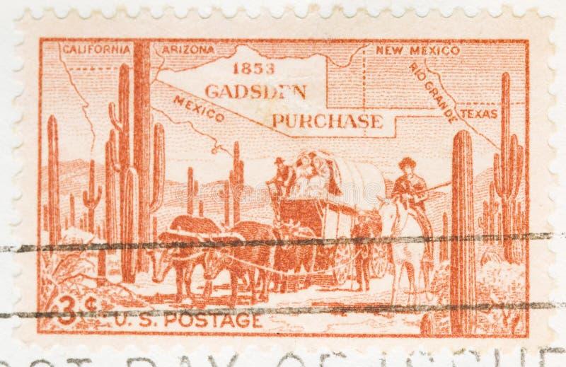 1953 Stamp Gadsen Purchase royalty free stock image
