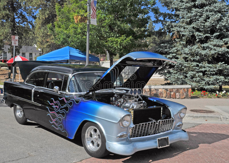 1955 Chevroleta Coupe fotografia royalty free