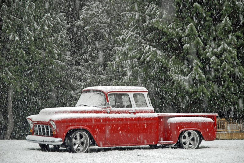 Download 1955 Chevy Classic In Snow Stock Photography - Image: 1741842