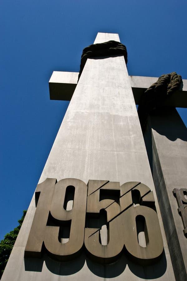 1956年纪念碑拒付 图库摄影