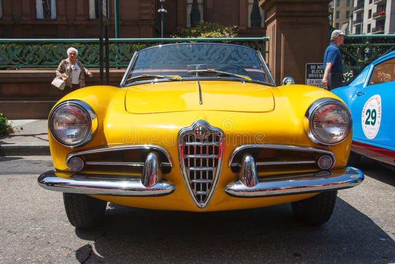 1956年阿尔法giulietta罗密欧蜘蛛 免版税库存照片
