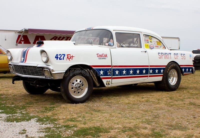 1956年Chevy阻力汽车 免版税库存照片