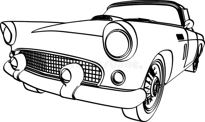 1956 ford thunderbird stock vector  illustration of pretty