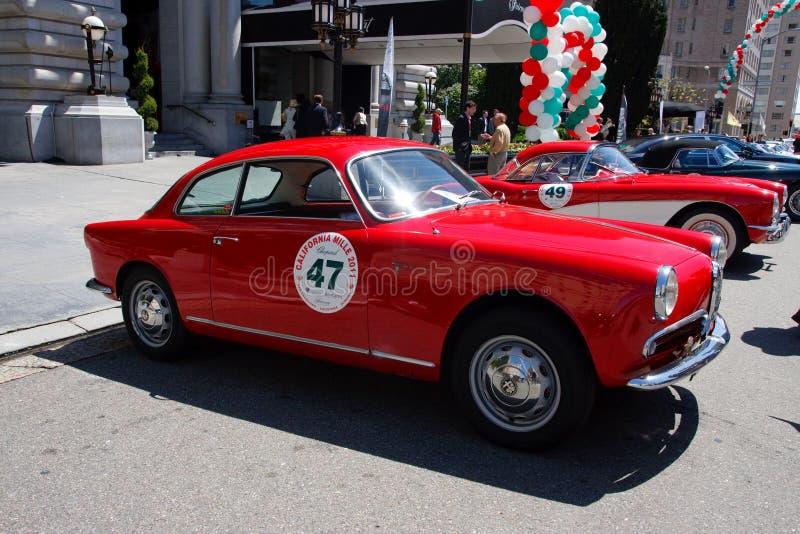 1957年阿尔法giulietta罗密欧短跑veloce 免版税图库摄影