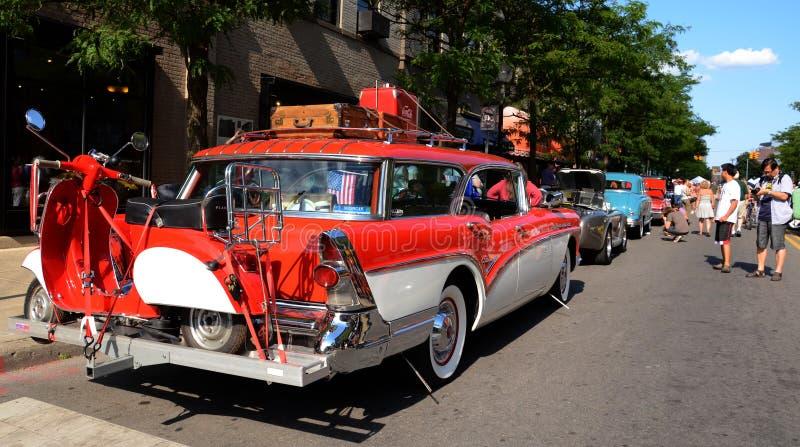 1957 Buick Callabro 4 deurwagen royalty-vrije stock foto