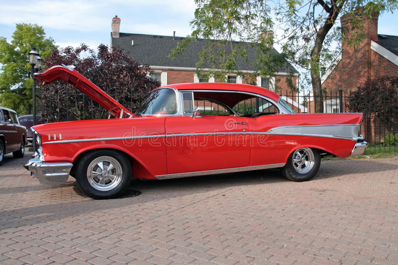 Download 1957 Chevy stock image. Image of chevy, hotrod, shiny - 9859193