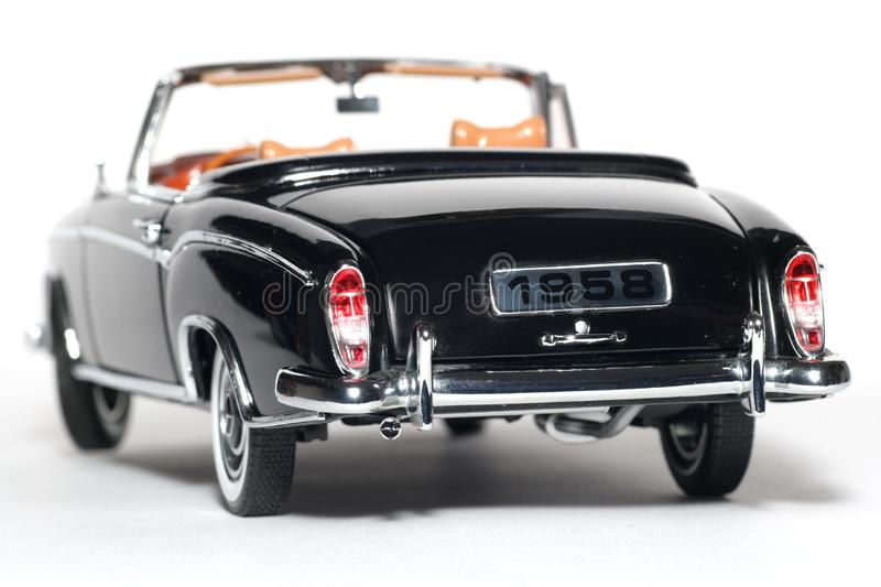 1958 Mercedes Benz 220 SE metal scale toy car back stock photo