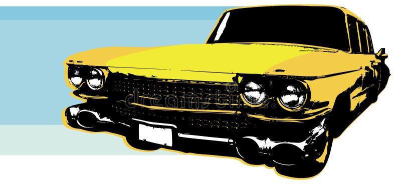 1959 Retro Auto royalty-vrije illustratie