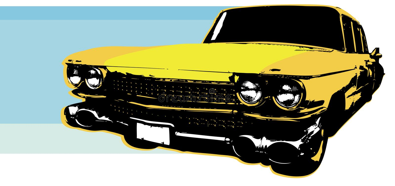 1959 Retro Car royalty free illustration