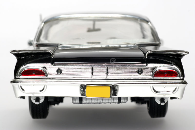 1960 backview brodu skalę działania starliner metalu zabawka zdjęcie stock