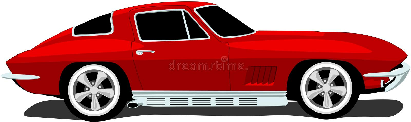 1960's Corvette Sports Car royalty free illustration