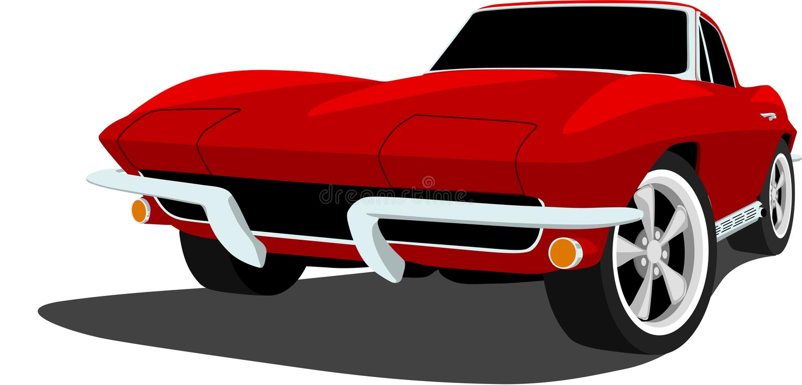 1960 s corvette sports car stock vector illustration of performance rh dreamstime com corvette clip art black and white corvette clip art silhouette