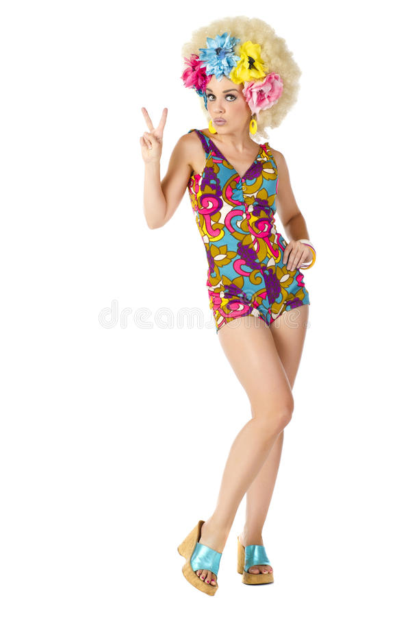 Download 1960's Go Go Girl stock image. Image of chick, laugh - 25237203