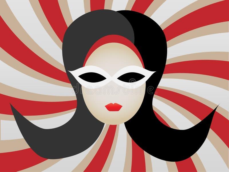 1960s przewodzą ilustraci s zawijasa kobiety ilustracji