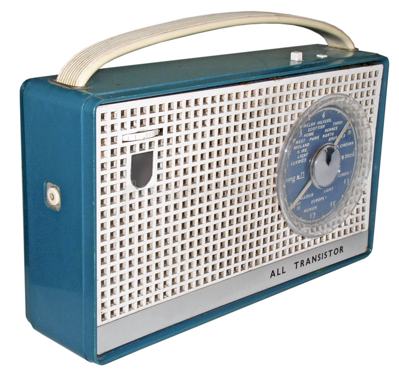 1960s radio (2) stock images