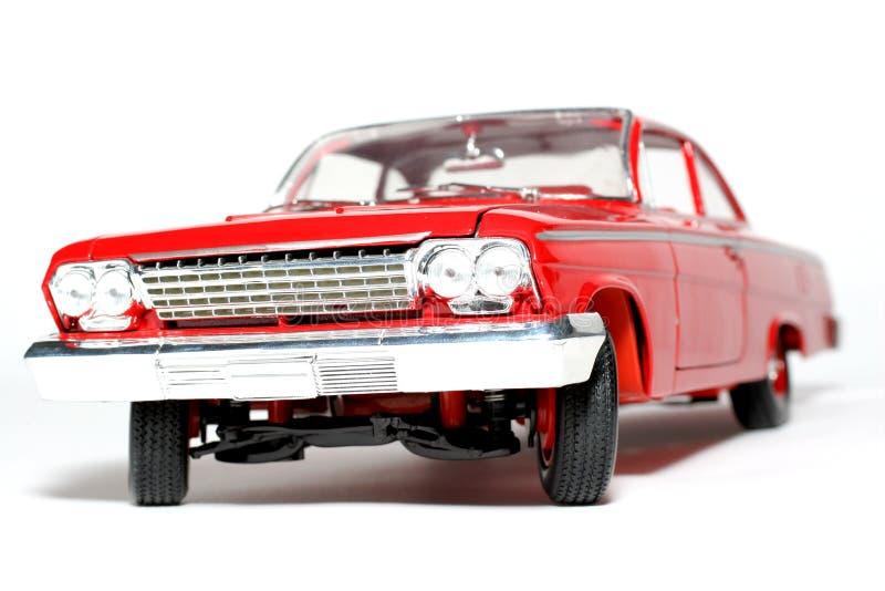 1962年belair汽车薛佛列汽车前金属缩放比例玩具 库存照片