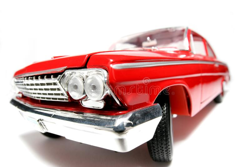 1962 Chevrolet Belair metal scale toy car fisheye #5 stock photo