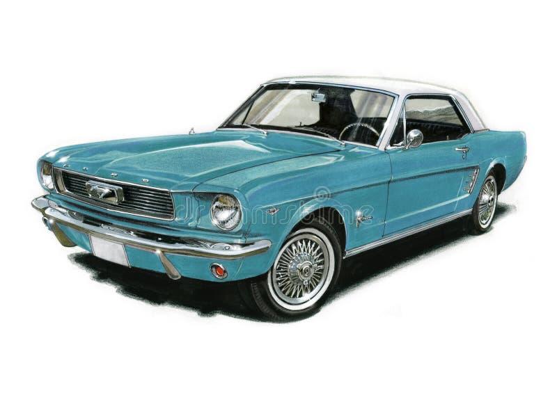 1966 Ford Mustang vector illustration