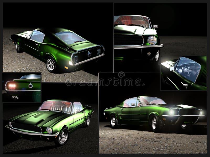 1967 de Mustang van de Doorwaadbare plaats stock illustratie