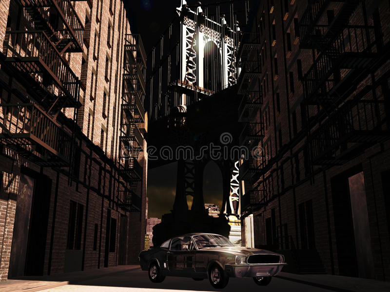 Download 1967 Mustang in Manhattan stock illustration. Image of front - 12473217