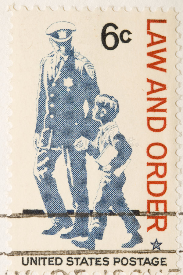 1968年法律顺序印花税葡萄酒 库存照片