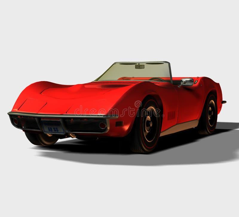 1968 samochodów sportowych kabrioletów ilustracja wektor