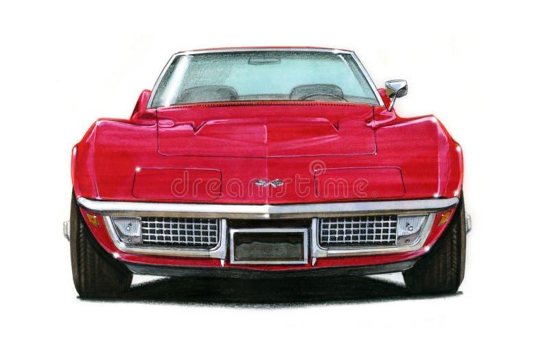 1969 Corvette Stingray. Illustration of a 1963 Chevrolet Corvette Stingray royalty free illustration