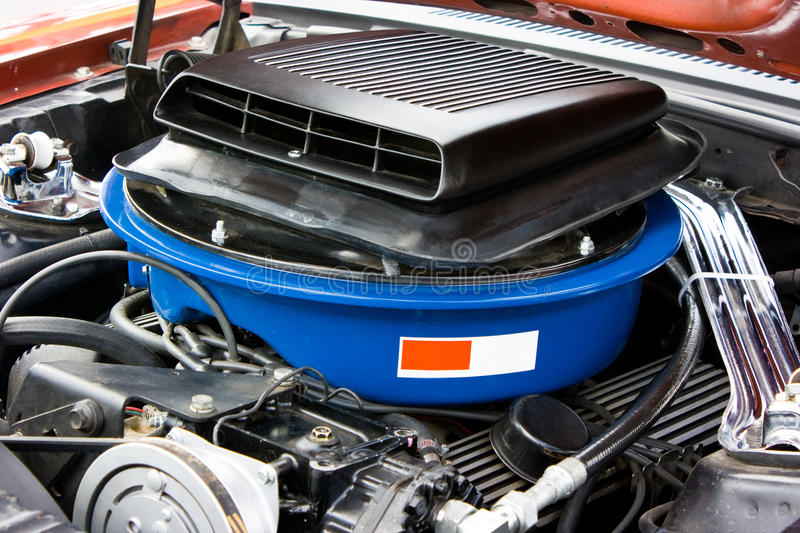 Download 1969 Ford Mustang 8 Cylinder Engine Stock Photo - Image: 13014096