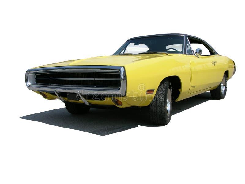1970年汽车充电器推托 库存照片