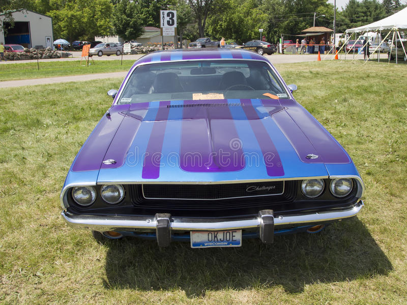 1970 Purple Dodge Challenger royalty free stock photography