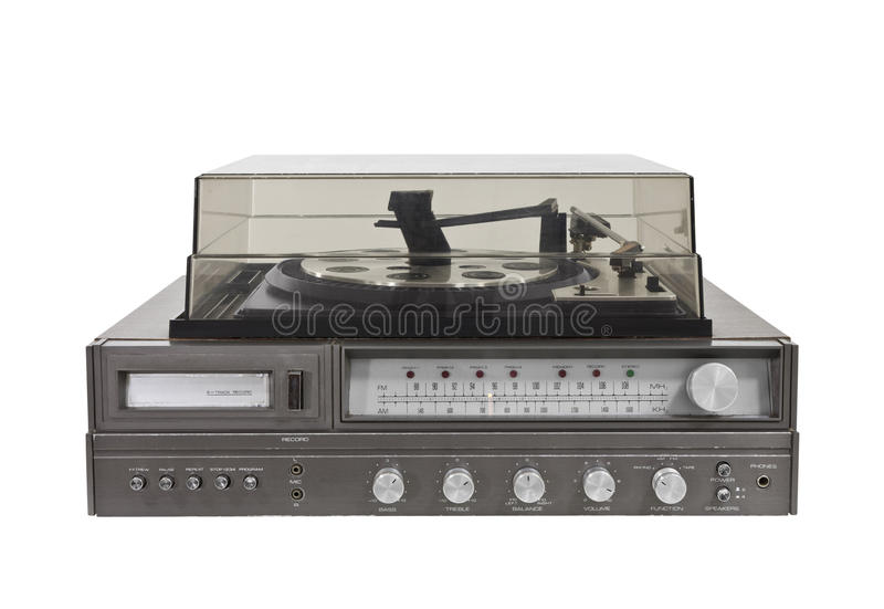 1970's Vintage Stereo Eight Track Turn Table royalty free stock photos