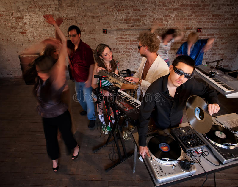 1970s Disco Music Party stock photo