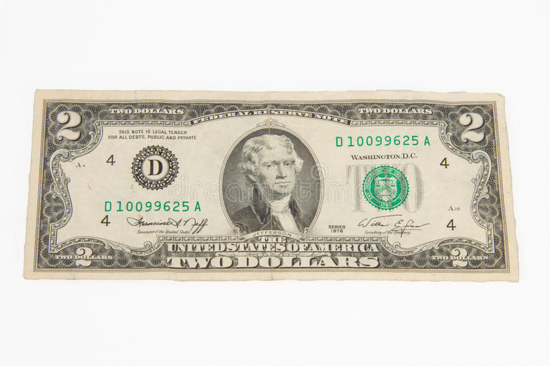 Download 1976 United States Two Dollar Bill Royalty Free Stock Images - Image: 12543369
