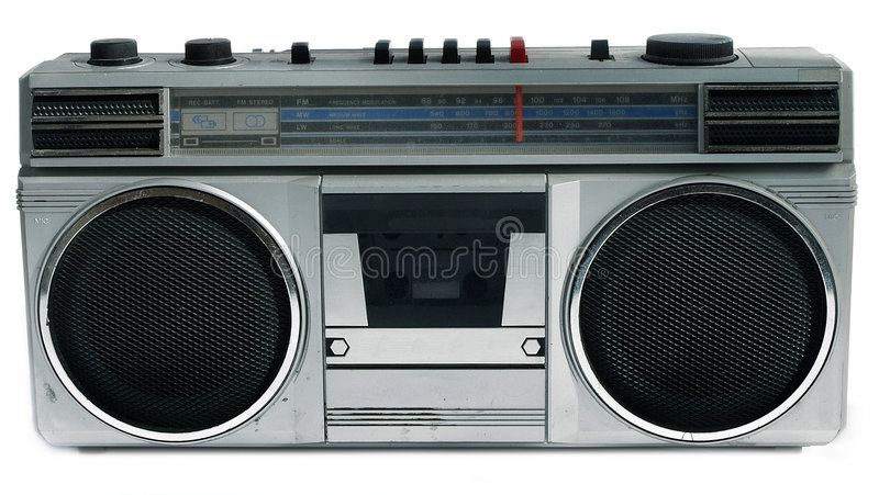 1980s style portable cassette player royalty free stock photo
