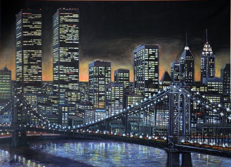 1986 ζωγραφική του Μανχάτταν στοκ εικόνες με δικαίωμα ελεύθερης χρήσης
