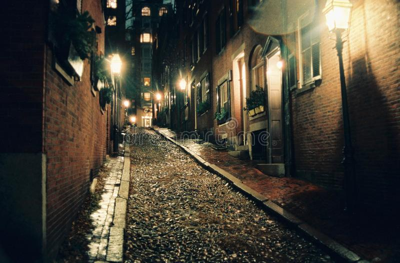 1987 acorn spadek ulica zdjęcia royalty free