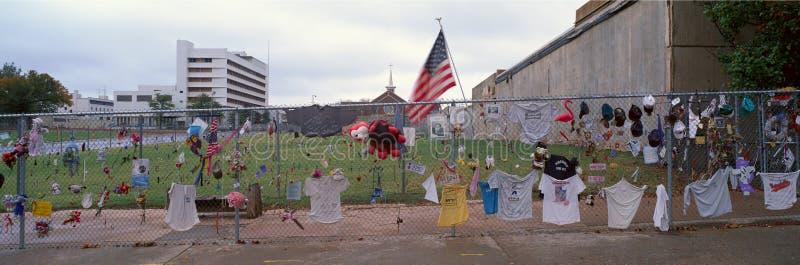 1995年奥克拉荷马市轰炸的纪念品 库存图片