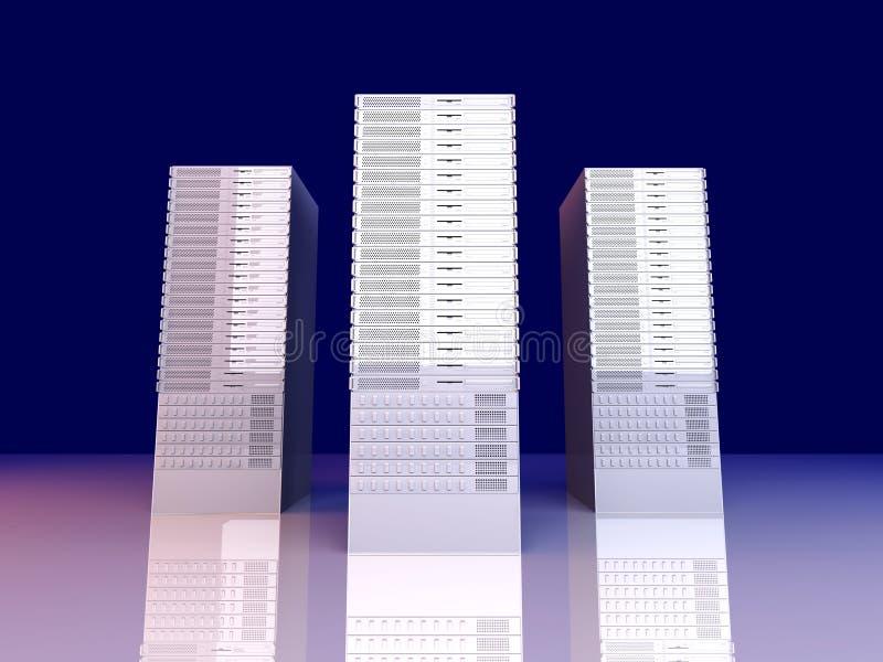 19inch πύργοι κεντρικών υπολο&g ελεύθερη απεικόνιση δικαιώματος