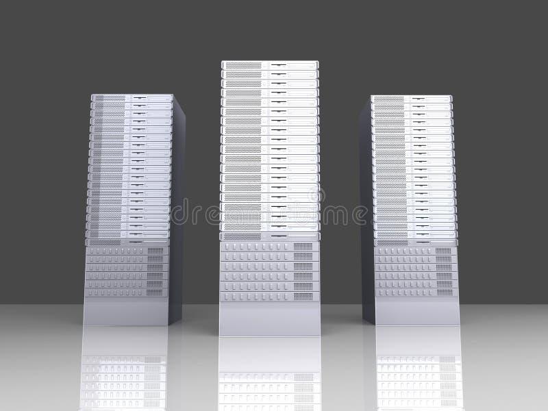 19inch πύργοι κεντρικών υπολο&g διανυσματική απεικόνιση