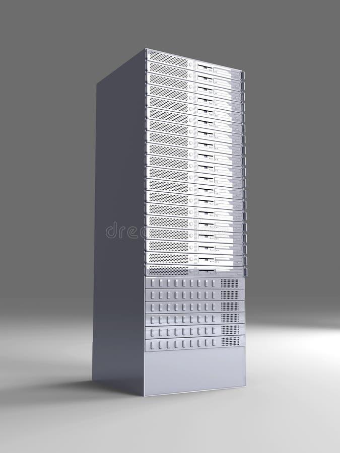 19inch πύργος κεντρικών υπολο ελεύθερη απεικόνιση δικαιώματος