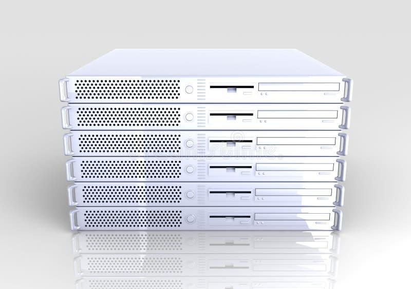 19inch στοίβα κεντρικών υπολογιστών ελεύθερη απεικόνιση δικαιώματος