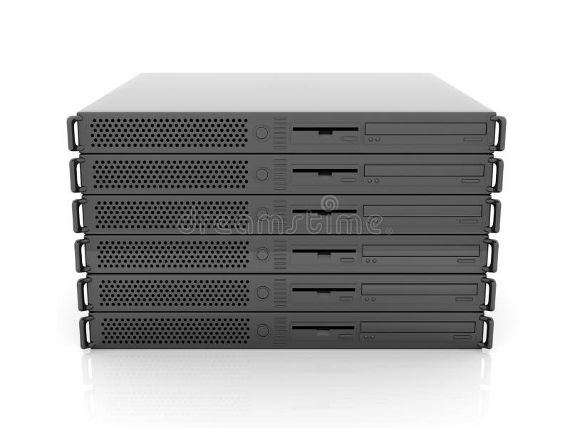 19inch Server Stack stock illustration