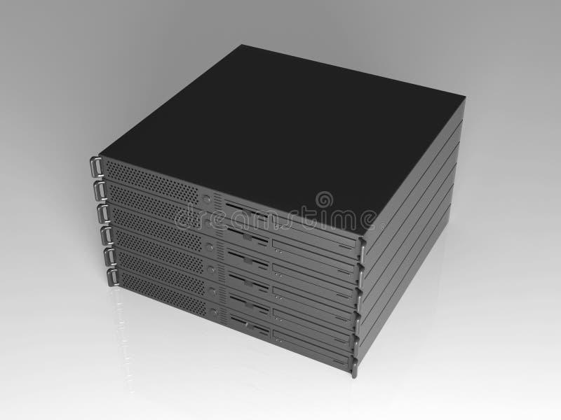 19inch Server Stack royalty free illustration