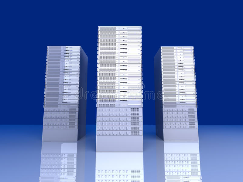 19inch Server towers stock illustration