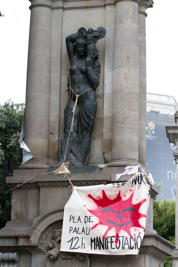 19J demostración internacional Barcelona fotos de archivo