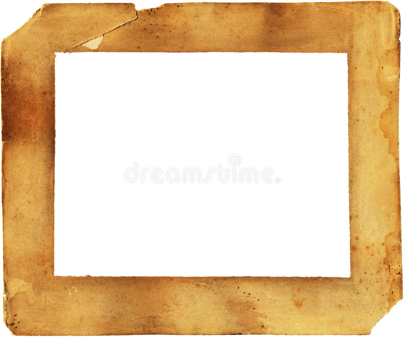 Download 19th Century Paper Frame - Deteriorated And Stained Stock Photo - Image: 622022