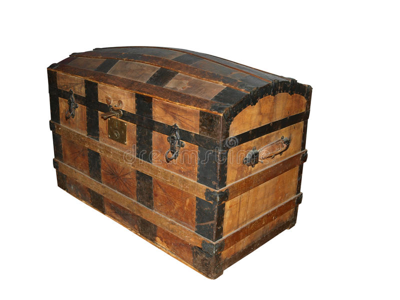 Download 19th Century Sea Chest stock photo. Image of secure, metal - 15665978