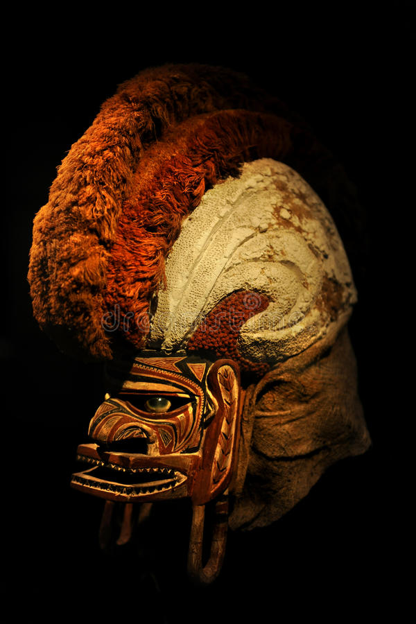 19th Century Tatanua Ceremonial Mask. From Northern New Ireland Island royalty free stock photography