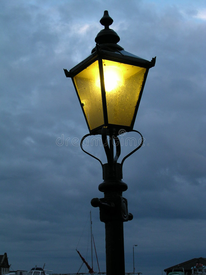 19th lamppost цента стоковое фото