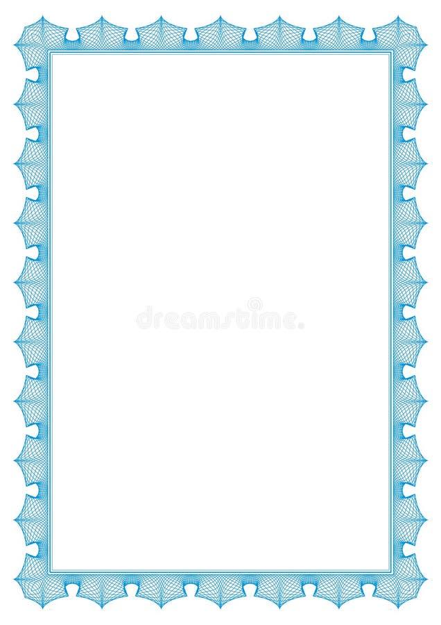 1ina4 μπλε σύνορα ασφαλή απεικόνιση αποθεμάτων